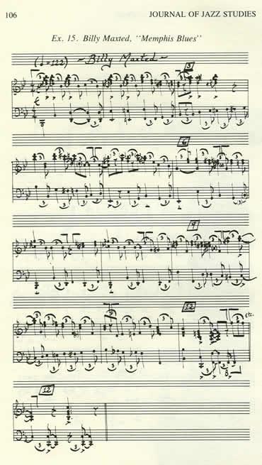 """Memphis Blues"" Music"